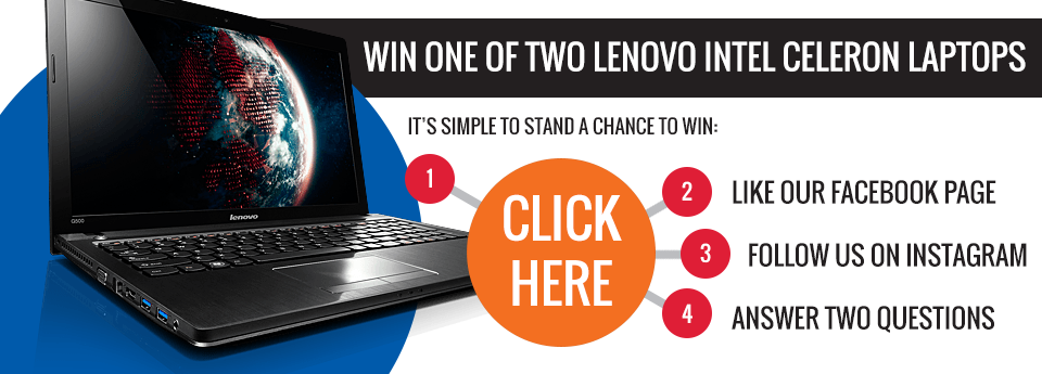 Win a Lenovo Intel Celeron Laptop